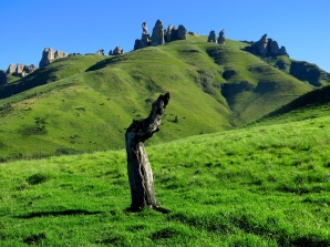 The Guardians rock formation, near Elliot, Eastern Cape, South Africa.