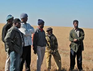 Six communal farmers