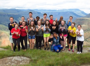 American and South African students stop at beautiful overlook